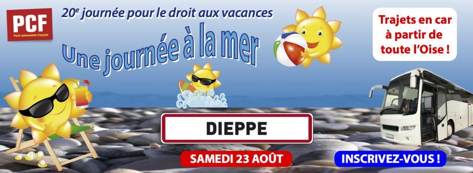 23 août, Dieppe - 20e Journée pour le droit aux vacances : voyage à la mer
