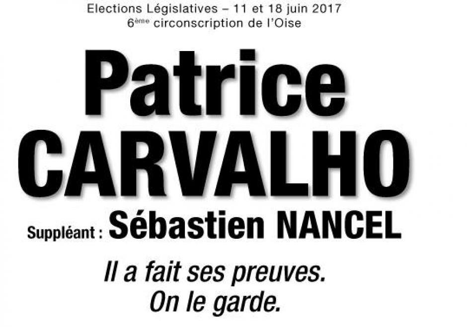 Patrice Carvalho : « Donnez-vous les meilleurs atouts » - 6e circonscription de l'Oise, 9 juin 2017
