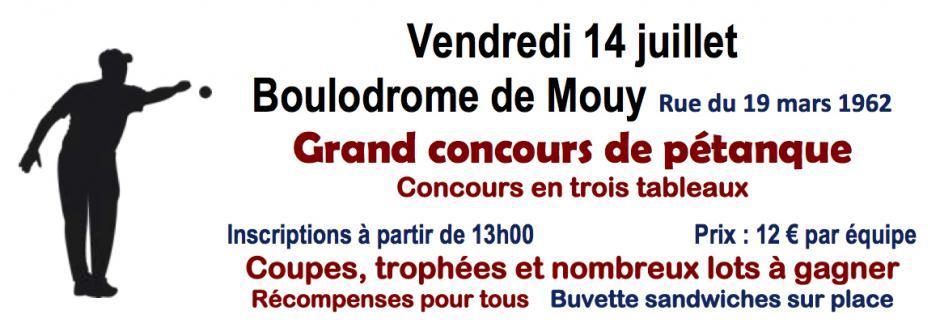 14 juillet, Mouy - Section PCF de Mouy-Grand concours de pétanque