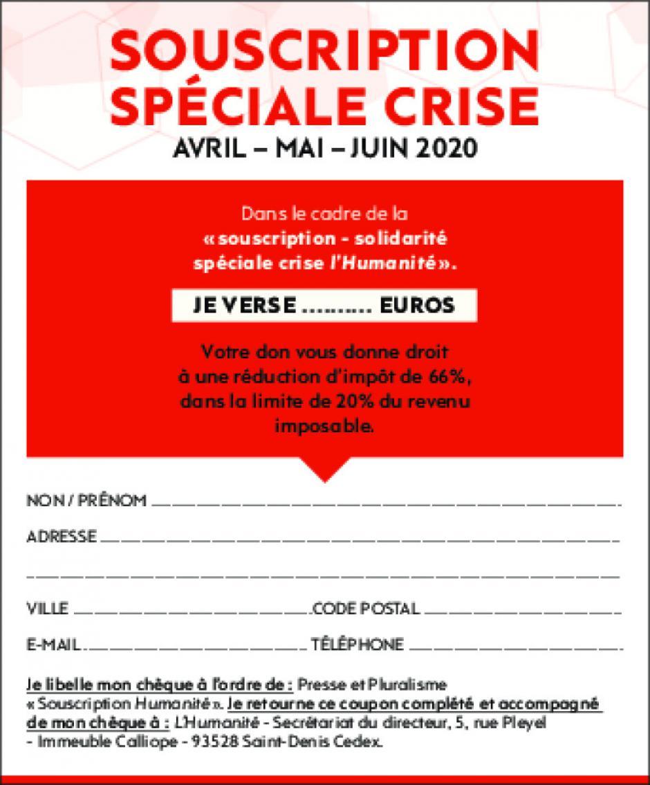 Souscription « spéciale crise » pour L'Humanité