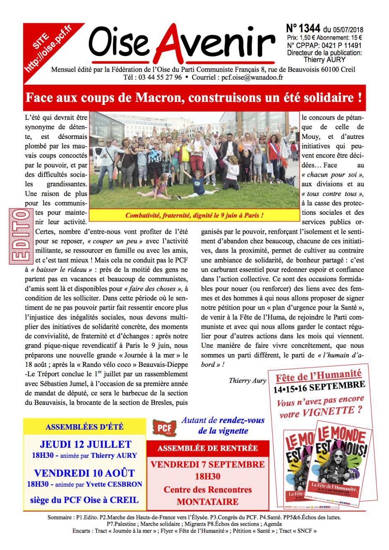 Oise Avenir n° 1344 du 5 juillet 2017