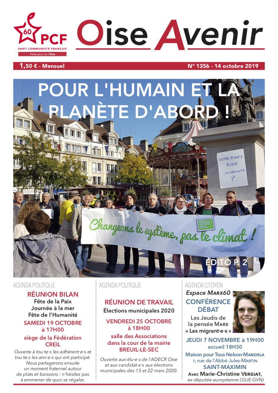 Oise Avenir n° 1356 du 14 octobre 2019