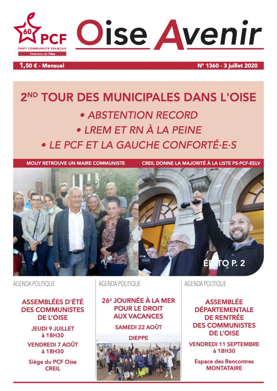 Oise Avenir n° 1360 du 3 juillet 2020