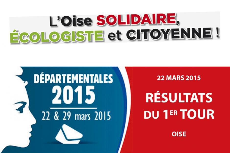 Élections départementales des 22 et 29 mars 2015 - Oise - Résultats du 1er tour