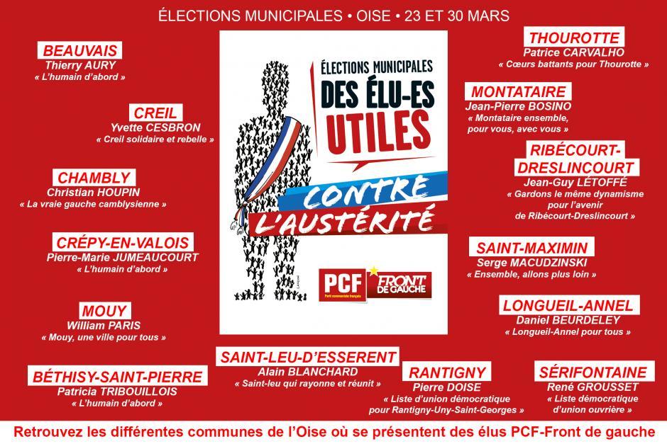 Dimanche 23 mars, votons pour des élus utiles contre l'austérité