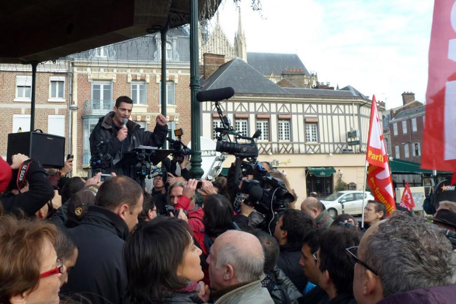 Manifestation de soutien à Xavier Mathieu - Amiens, 4 janvier 2012