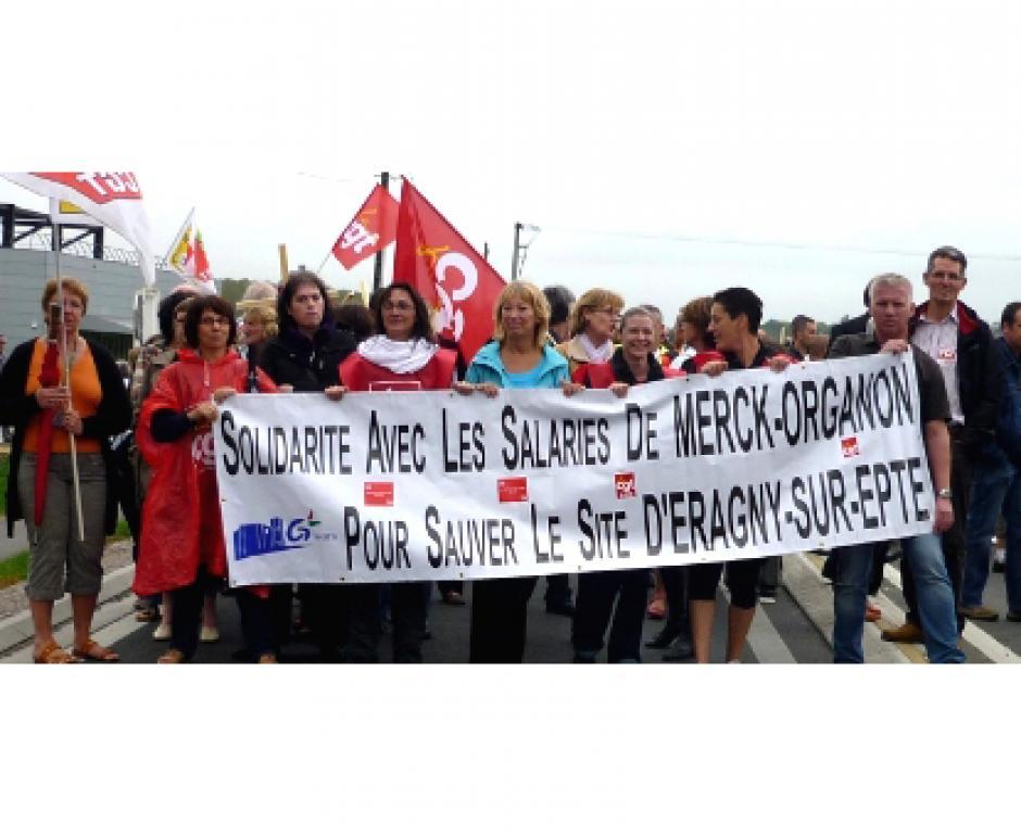 Coup dur pour les salariés de Merck-Organon - 14 décembre 2011