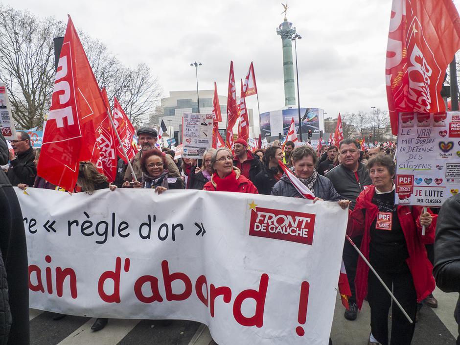 Marche pour la 6e République : le défilé démarre - Paris, 18 mars 2017