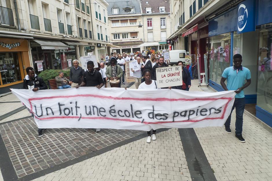 Solidarité avec les mineurs isolés et les jeunes majeurs rejetés de l'ASE de l'Oise - Beauvais, 1er juillet 2017
