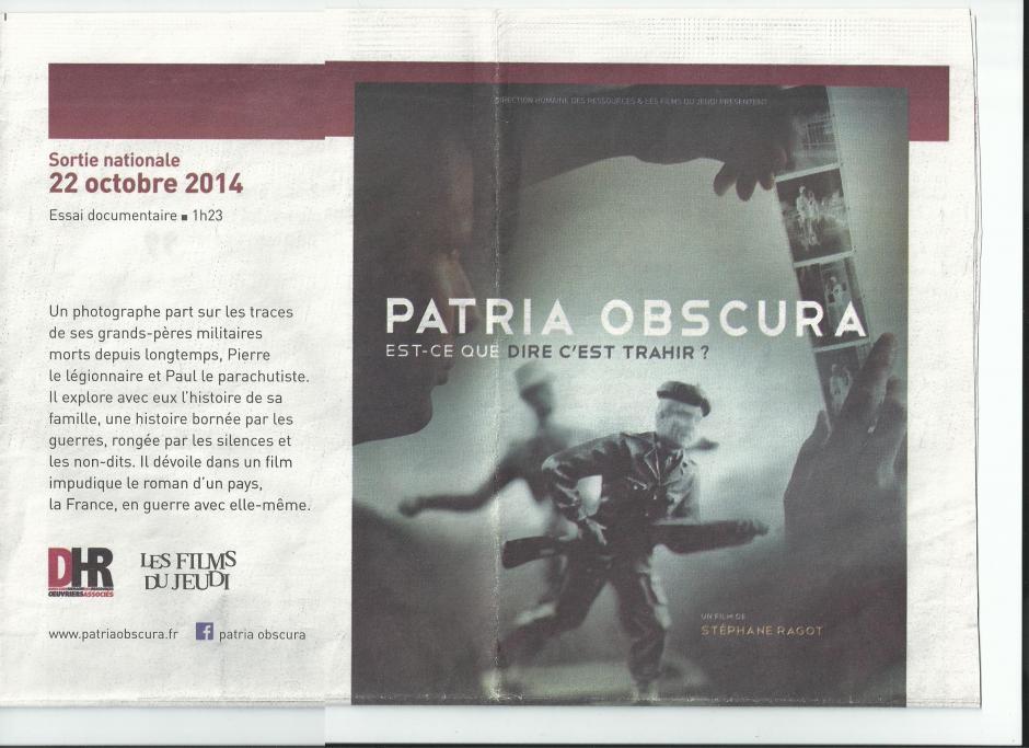 Soirée Discussion au cinéma le Dietrich, autour du film Patria Obscursa