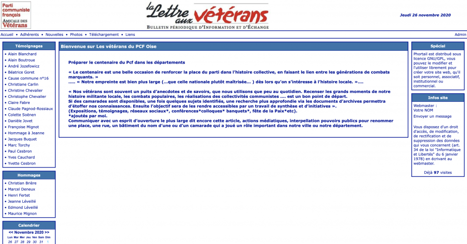 L'Amicale de l'Oise des Vétérans du PCF a son site internet !