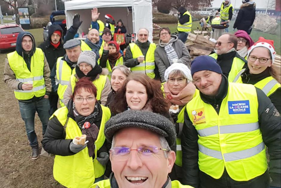 Moments partagés avec les Gilets jaunes : on ne lâche rien - Montataire, 15 décembre 2018
