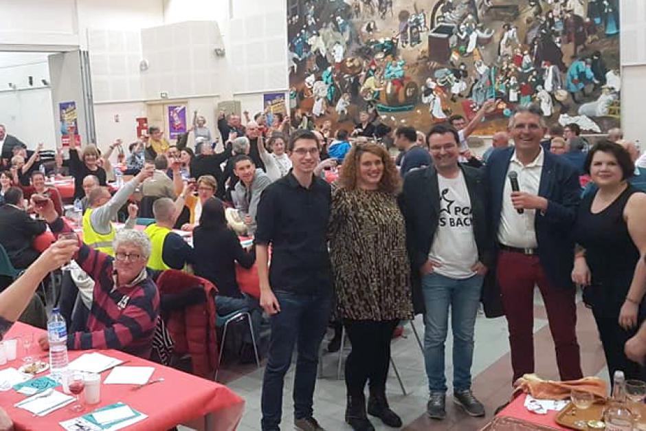 Près de 200 personnes au repas de la Fraternité, avec une très belle ambiance jusque tard dans la nuit ! - Beauvais, 9 mars 2019