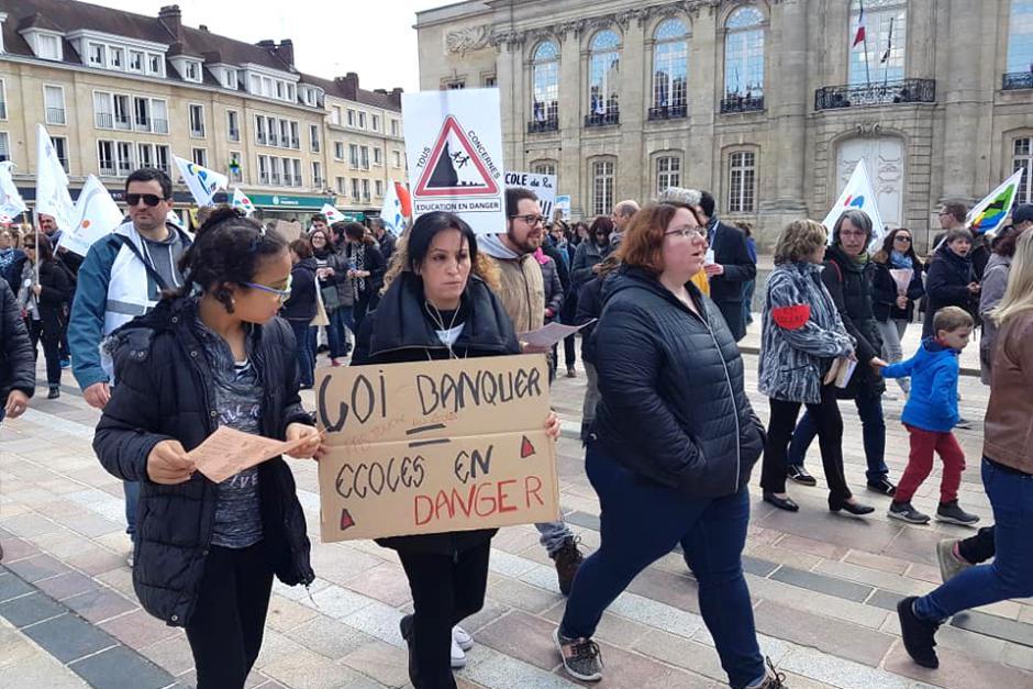 On se soulève contre les réformes Blanquer - Beauvais et Compiègne, 4 avril 2019