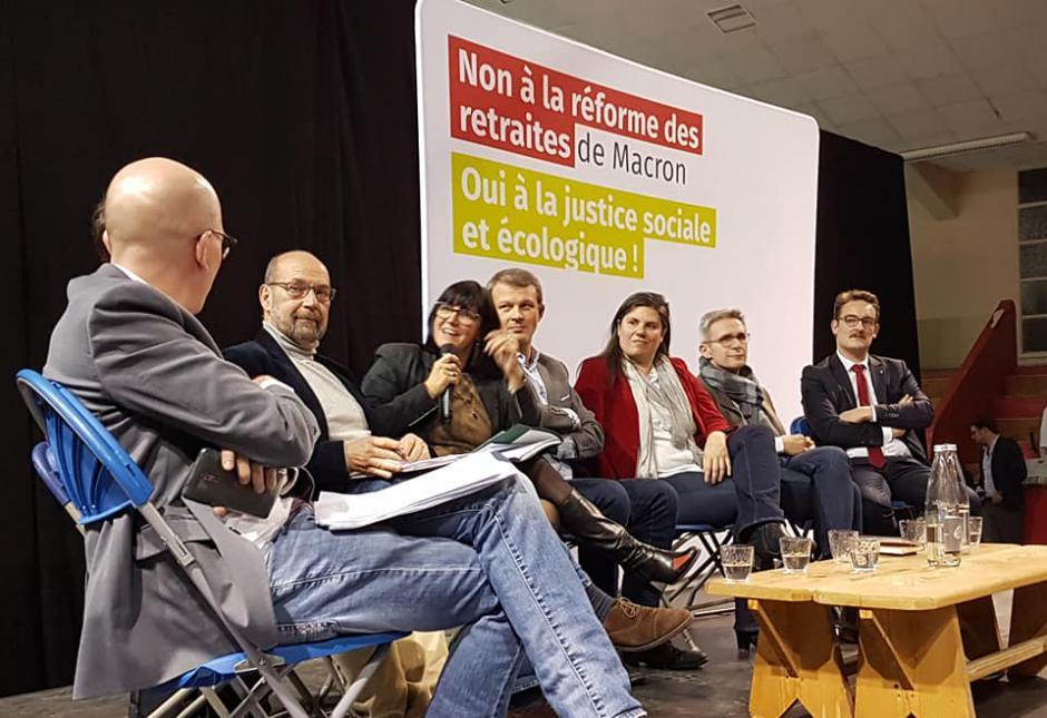 Gros succès du meeting commun pour l'avenir des retraites - Beauvais, 18 décembre 2019