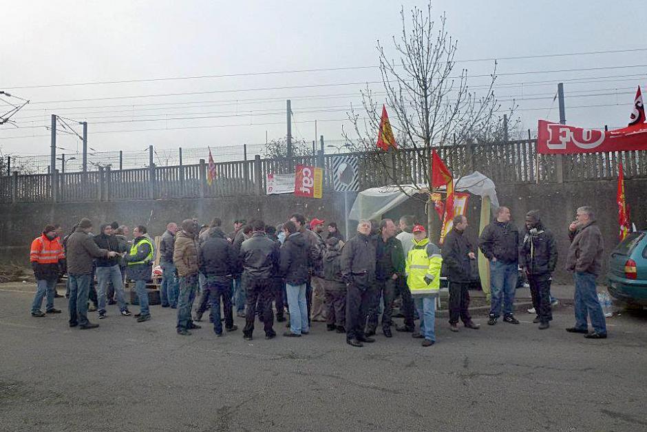 Victoire des salariés de Cabaro-Veolia sur les salaires - Beauvais, mars 2012