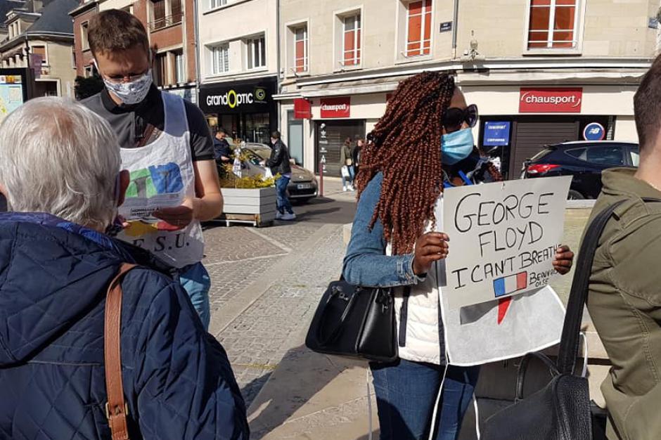 8 minutes et 46 secondes… pour étouffer le racisme et les violences policières - Beauvais, Compiègne et Creil, 9 juin 2020
