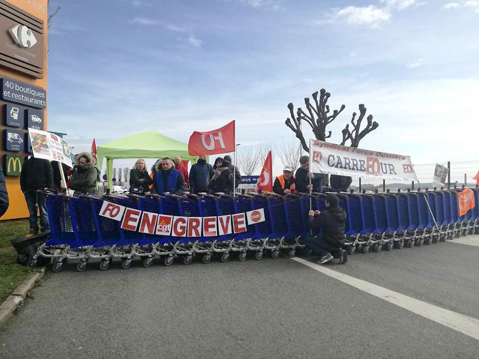 Grève « historique » chez Carrefour, le premier employeur privé de France - Compiègne & Chantilly, 31 mars 2018