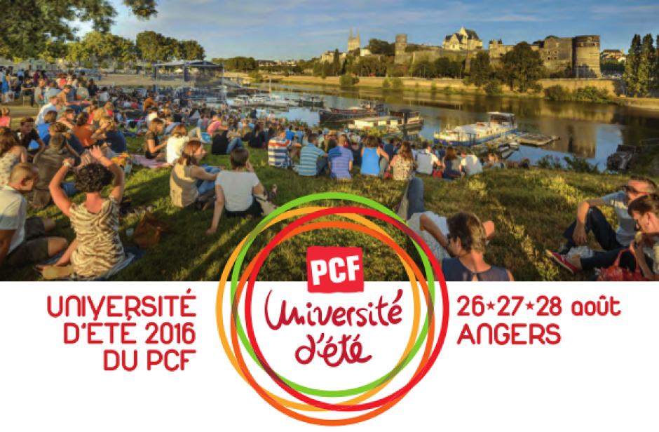 26 au 28 août, Angers - Université d'été du Parti Communiste Français