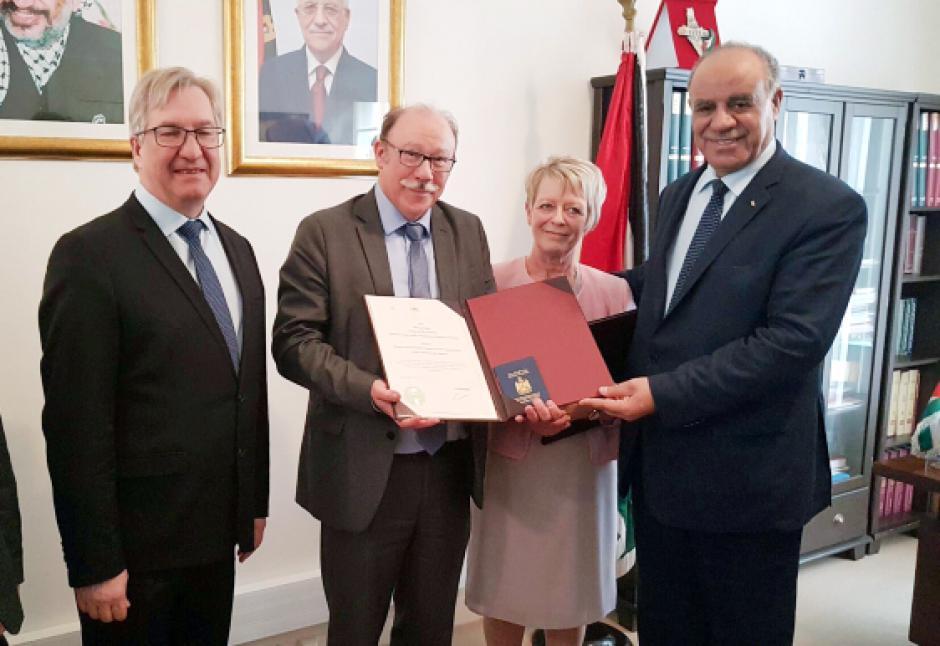 Jean-Pierre Bosino reçoit la citoyenneté d'honneur palestinienne - Paris, 29 mars 2017