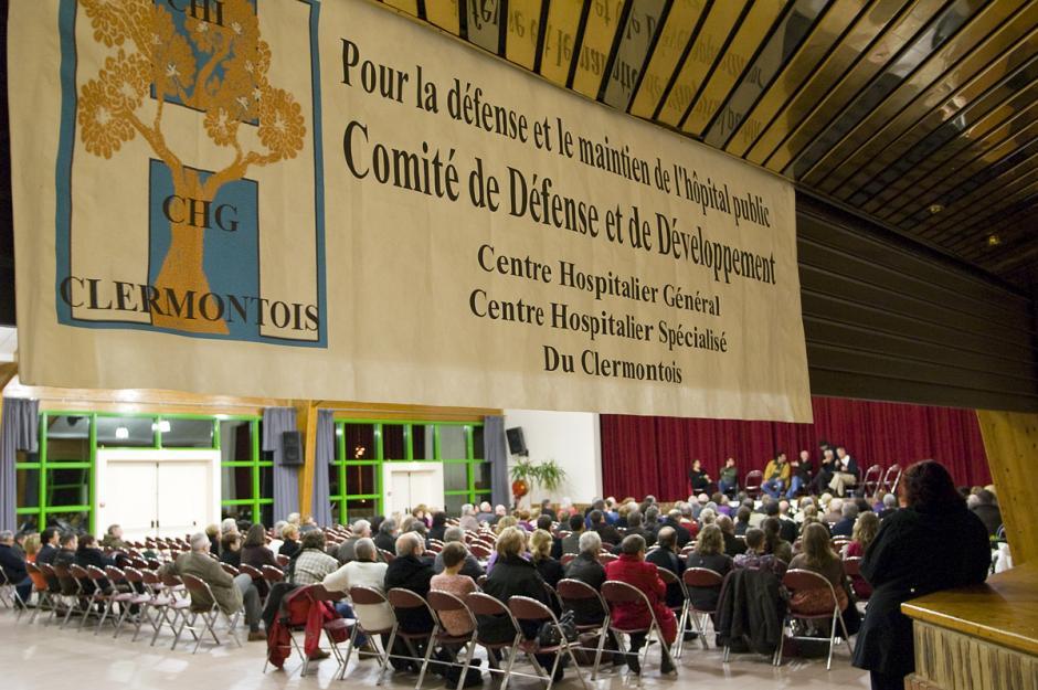 Comités de défense des hôpitaux de Creil, Senlis et Clermont-Réunion publique départementale « Notre santé en danger » - Clermont, 17 février 2012