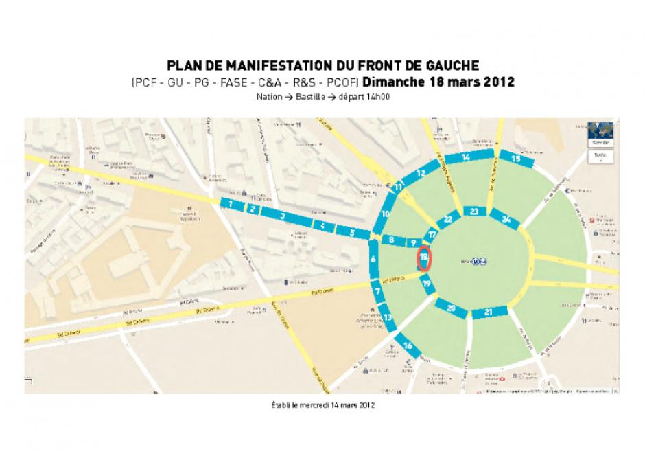 18 Mars Paris Plan De Manifestation Place De La Nation