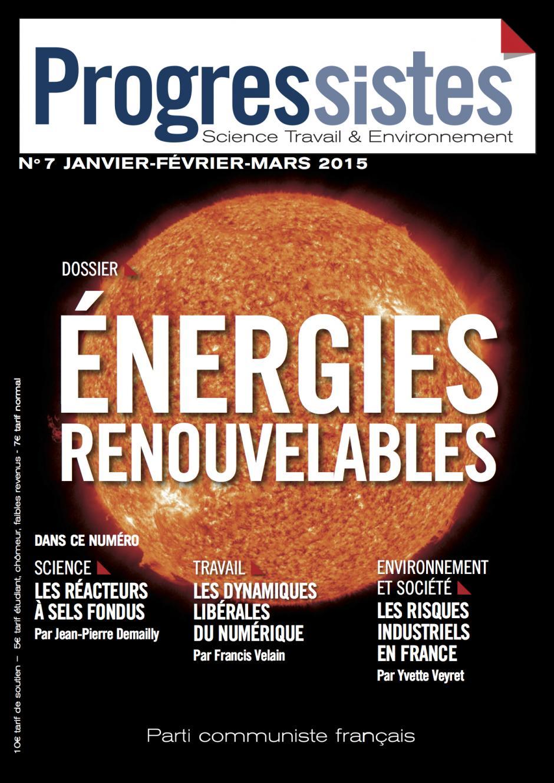 Progressistes-n° 7-Janvier, février, mars 2015