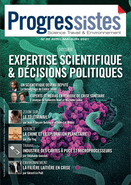 Progressistes n° 32 de avril, mai, juin 2021