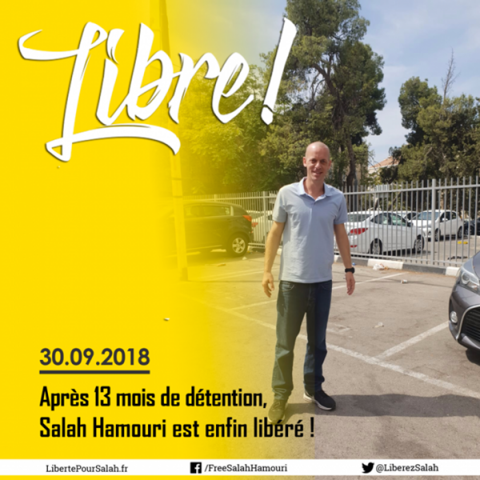 Salah Hamouri : enfin libre !