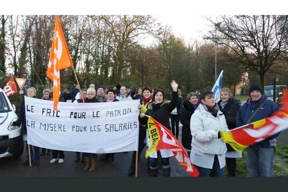 Soutien aux salariés d'Anovo en lutte contre 47 suppressions d'emplois - Beauvais, 27 novembre 2015