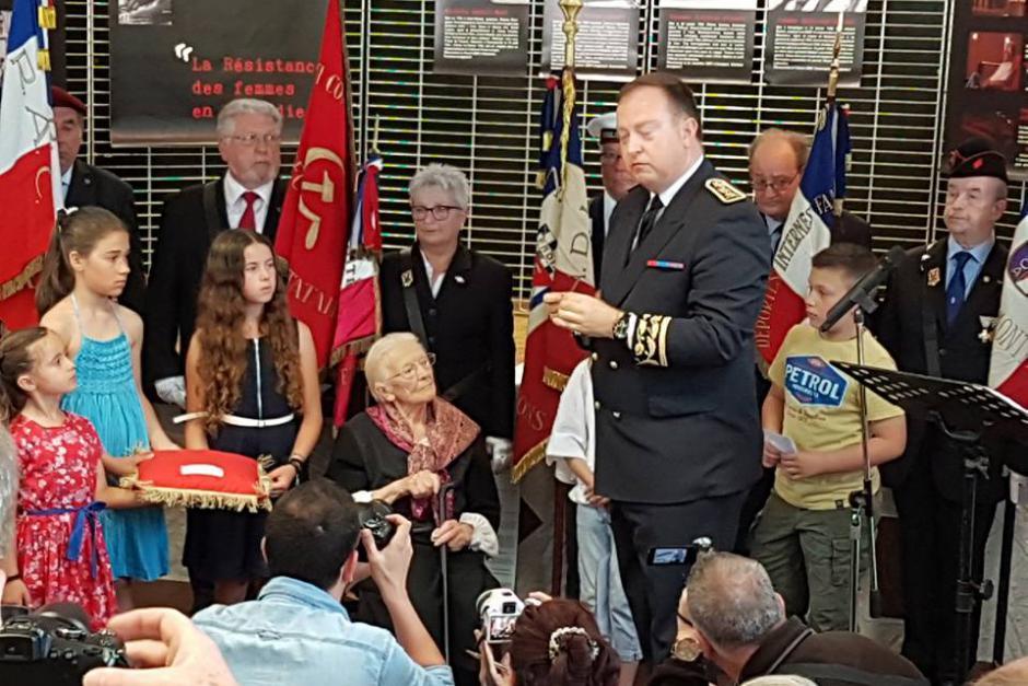 Légion d'honneur pour la résistante communiste Lucienne Fabre - Angicourt, 27 mai 2017