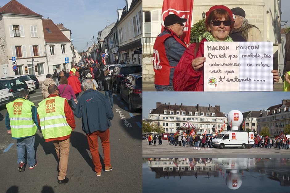 Unis contre les ordonnances Macron et pour le progrès social - Beauvais, Chambly et Compiègne, 21 septembre 2017