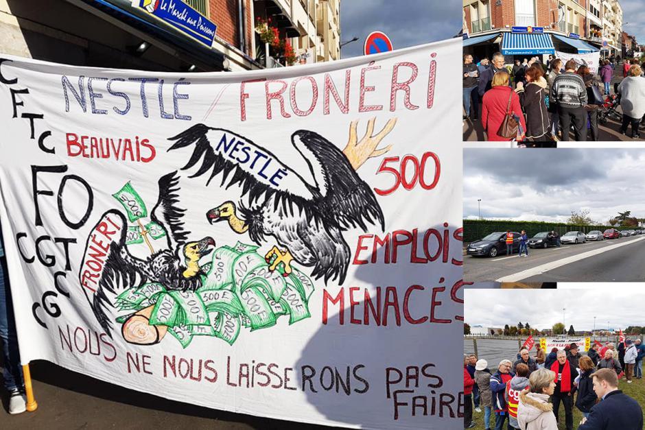 Aux côtés des salarié-e-s pour dire « Non à la fermeture de Froneri-Nestlé ! » - Beauvais, 27 octobre 2018