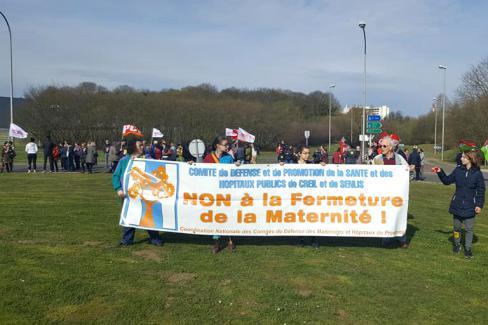 «Non à la fermeture des maternités de Creil et de Clermont » - Creil, 7 avril 2018