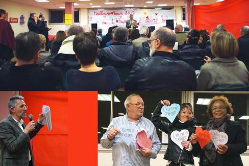 Du monde aux vœux de l'équipe de l'Humain d'abord ! - Beauvais, 14 janvier 2017