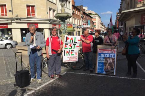 Solidarité avec les prisonniers palestiniens en grève de la faim ! Beauvais, 24 mai 2017
