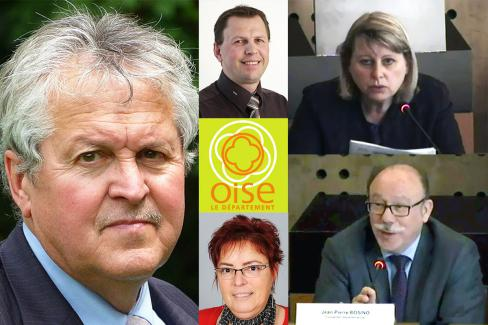 Avec Jean-Pierre Bosino au Conseil départemental de l'Oise - 9 octobre 2017