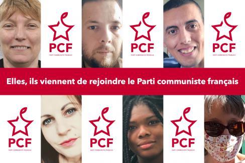 Elles, ils viennent de rejoindre le Parti communiste français… - Oise, juin 2020