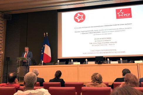 Colloque international sur la paix et le désarmement nucléaire - Paris, 26 septembre 2019
