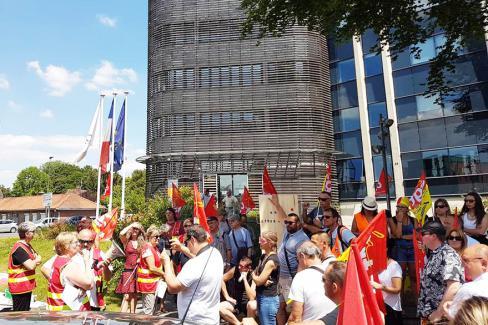 Non à la privatisation de l'entretien des collèges de l'Oise - Beauvais, 28 juin 2018