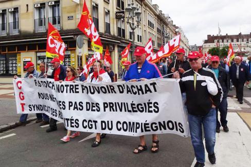 Hausse de la CSG, blocage des pensions, ça suffit ! - Beauvais, 14 juin 2018