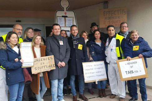 Lancement du Tour de France des maternités menacées - Creil, 11 février 2019